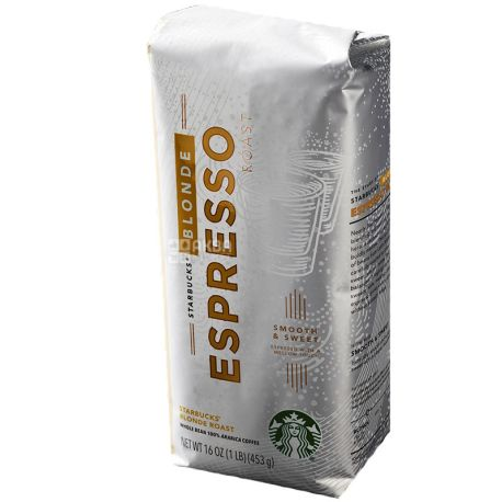 Starbucks Espresso Roast Blonde, 250 г, Кофе Старбакс Эспрессо Роаст Блонд, в зернах
