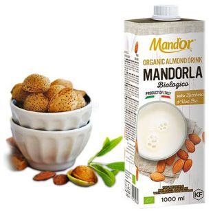 Mand`or Organic, 1 л, Мандор, Мигдальне молоко  Органік без цукру