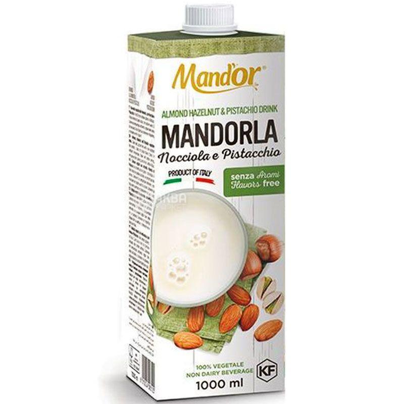 Mand`or, 1 л, Мандор, Миндальное молоко 3в1, миндаль, фисташки, лесной орех