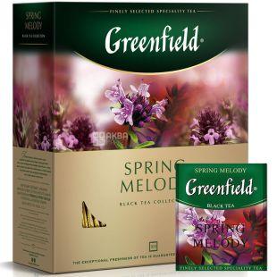 Greenfield, Spring Melody, 100 пак., Чай Гринфилд, Спринг Мелоди, черный