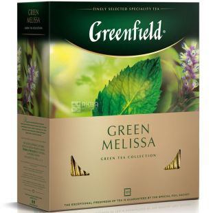 Greenfield, Green Melissa, 100 пак., Чай Гринфилд, Грин Мелисса, зеленый