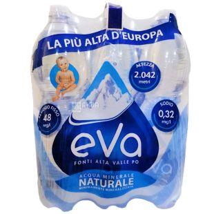 Acqua Eva, 1,5 л, Упаковка 6 шт., Аква Эва, Вода горная, негазированная, ПЭТ
