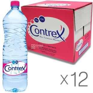 Contrex, 1,5 л, Упаковка 12 шт., Контрекс, Вода минеральная негазированная, ПЭТ