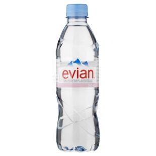 Evian, 0,5 л, Эвиан, Вода негазированная, ПЭТ