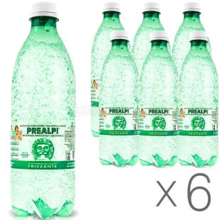 Fonti Prealpi, 0.5 L, Pack of 6 pcs, Prealpi, Mineral carbonated water, PET