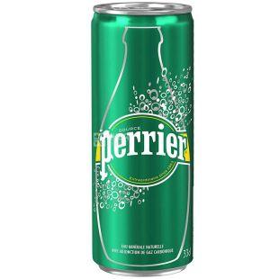 Perrier, 0,33 л, Пер'є, Вода мінеральна газована, ж/б