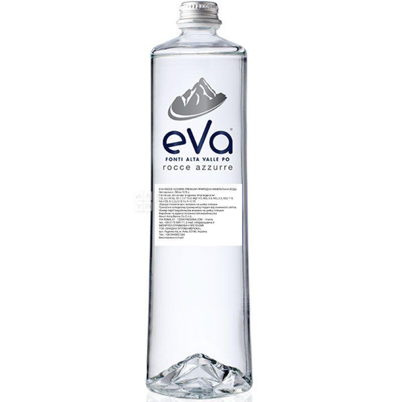 Acqua Eva Premium, 0,75 л, Аква Ева Преміум, Вода гірська, негазована, скло