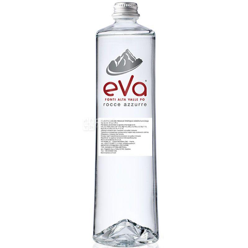 Acqua Eva Premium, 0,75 л, Аква Эва, Вода горная, газированная, стекло