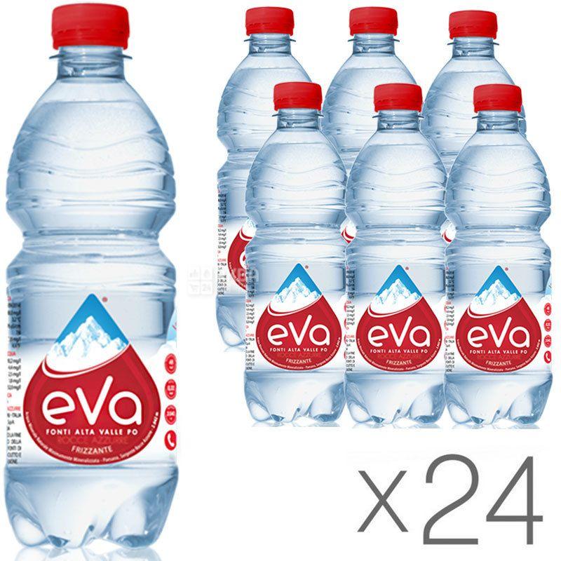 Acqua Eva, 0,5 л, Упаковка 24 шт., Аква Эва, Вода горная, газированная, ПЭТ