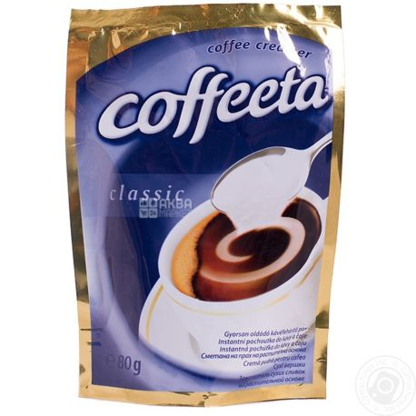 Coffeeta Classic, 80 г, сухі вершки Коффіта Класик