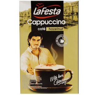 La Festa, Cappuccino, Hazelnut, 10 х 12,5 г, Ла Феста, Капучино с ореховым вкусом, в стиках