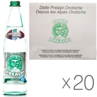 Fonti Prealpi, 0,5 л, Упаковка 20 шт., Преалпи, Вода минеральная, газированная, стекло