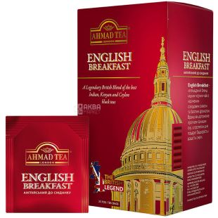 Ahmad English Breakfest Tea, Tea black, packaged, 25 pcs
