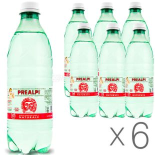 Fonti Prealpi, 0,5 л, Упаковка 6 шт., Фонті Преалпі, Вода мінеральна, негазована, ПЕТ