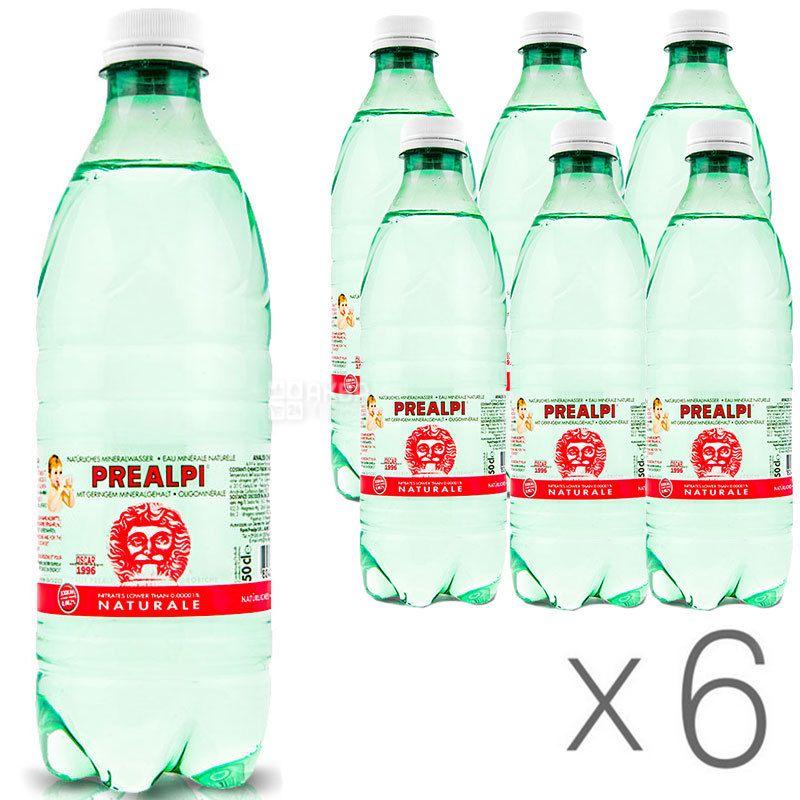 Fonti Prealpi, 0,5 л, Упаковка 6 шт., Фонти Преалпи, Вода минеральная, негазированная, ПЭТ