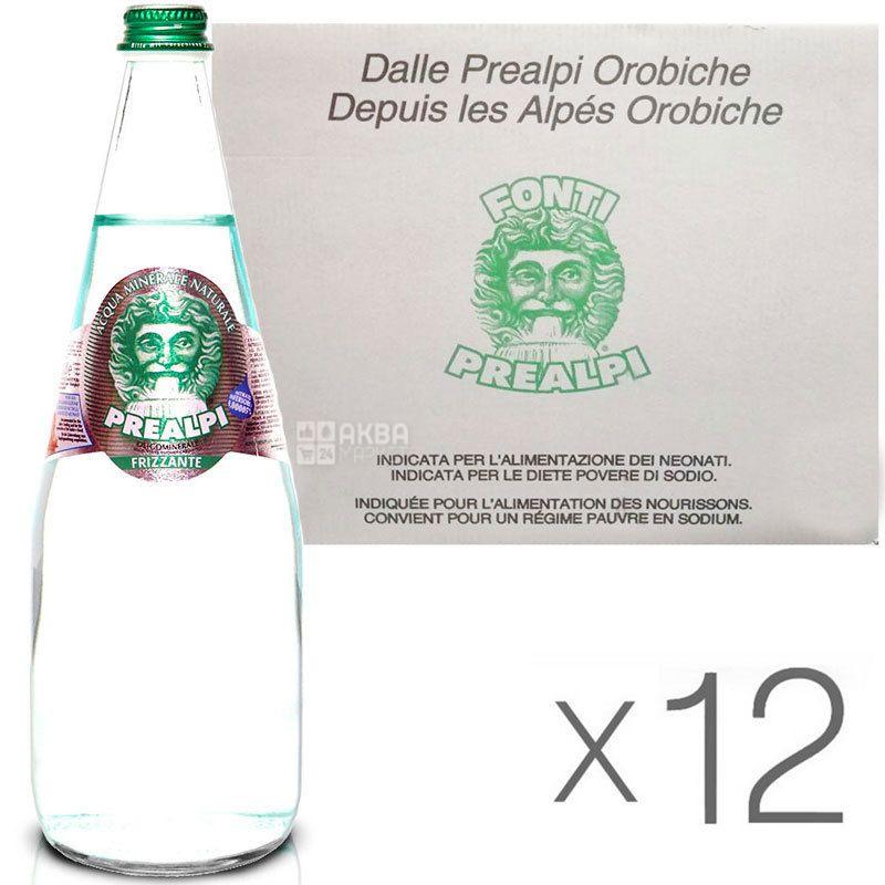 Fonti Prealpi, 0,75 л, Упаковка 12 шт., Фонти Преалпи, Вода минеральная, газированная, стекло