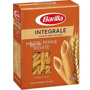 Barilla Penne Rigate Integrale, 500 г, Макароны Барилла Пенне Ригате Интеграле, цельнозерновые