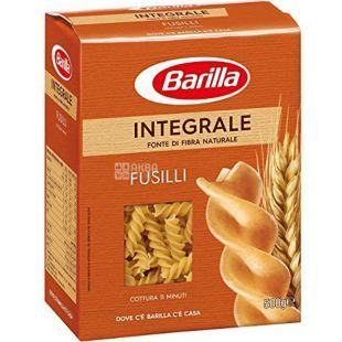 Barilla Fusilli Integrale, 500 г, Макароны Барилла Фузилли Интеграле, цельнозерновые