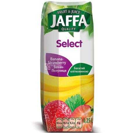 Jaffa, Select, Бананово-клубничный, 0,25 л, Джаффа, Нектар натуральный