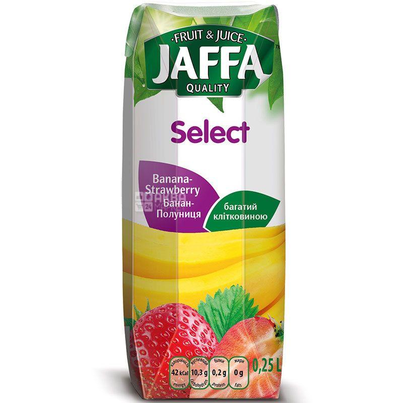 Jaffa, Select, Бананово-полуничний, 0,25 л, Джаффа, Нектар натуральний