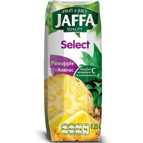 Jaffa, Select, Ананасовый, 0,25 л, Джаффа, Нектар натуральный