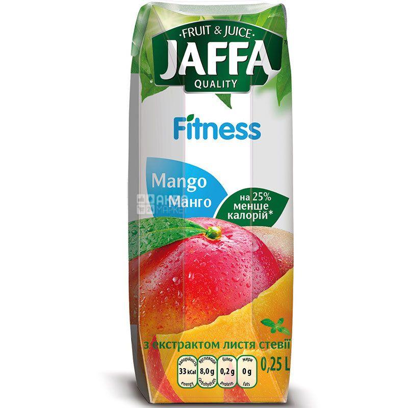 Jaffa, Fitness, Манго, 0,25 л, Джаффа, Нектар натуральный с экстрактом листьев стевии