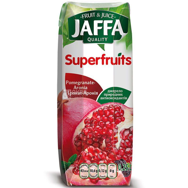 Jaffa, Superfruits, Гранат-Аронія, 0,25 л, Джаффа, Нектар натуральний