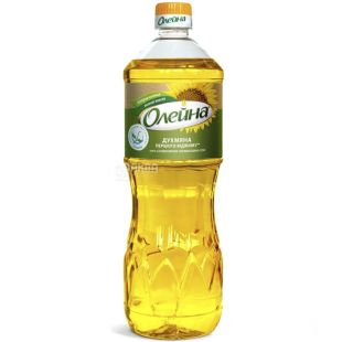 Oleina, 0.85 L, Sunflower oil, Unrefined, Fragrant, PET