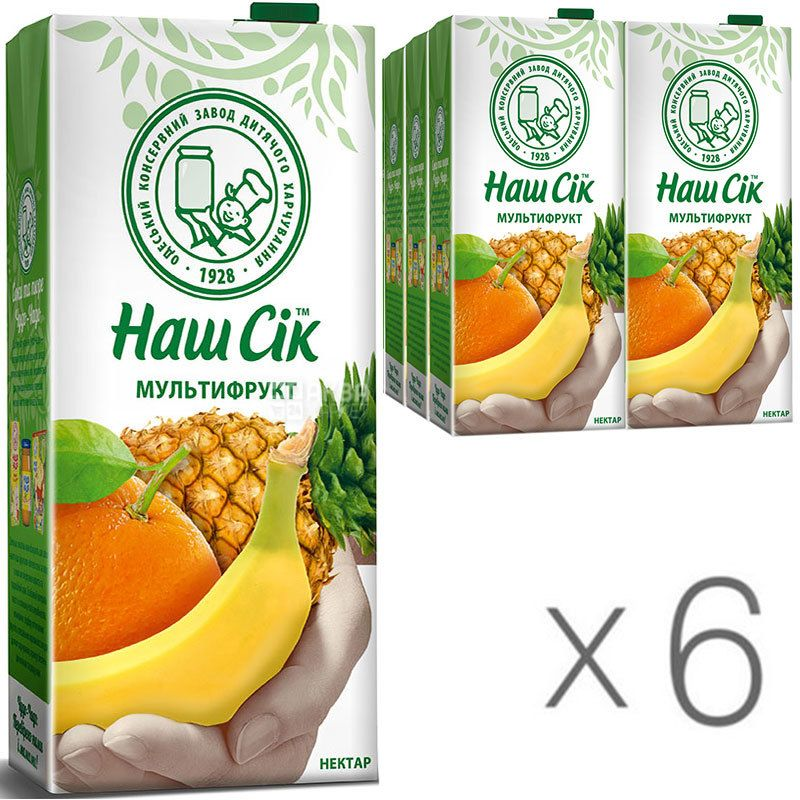 Our Juice, pack of 6 pcs. on 1,93 l, nectar, Multifruit, m / y
