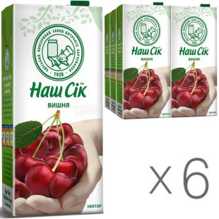 Our Juice, pack of 6 pcs. on 1,93 l, nectar, Cherry, m / y