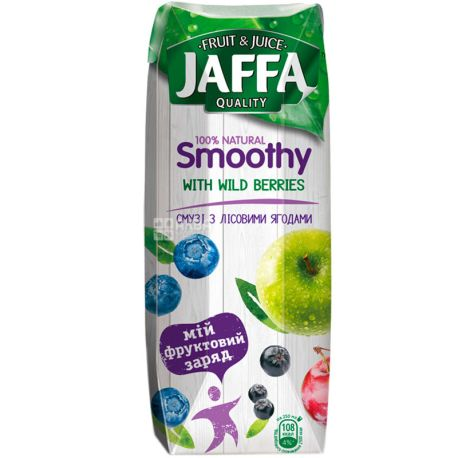 Jaffa Smoothy Wild Berries, Лісові ягоди, 0,25 л, Джаффа, Смузі натуральний