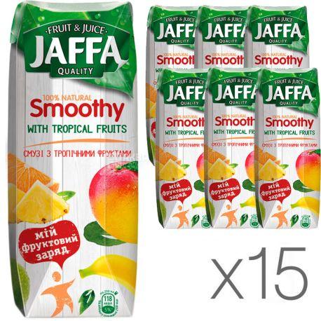 Jaffa Smoothy Wild Berries, Тропические фрукты, Упаковка 15 шт. по 0,25 л, Джаффа, Смузи натуральный