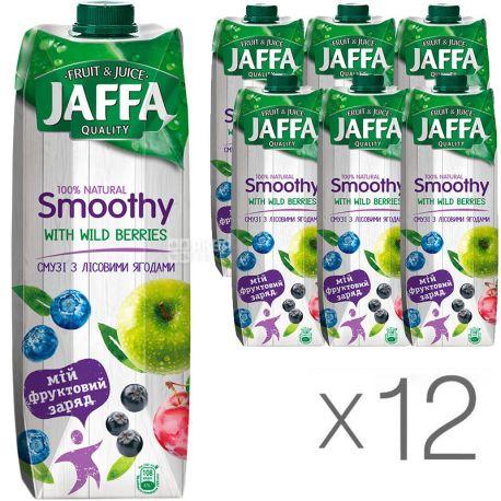 Jaffa Smoothy Wild Berries, Лесные ягоды, Упаковка 12 шт. по 0,95 л, Джаффа, Смузи натуральный