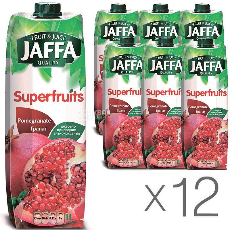 Jaffa, Superfruits, Гранатовый, Упаковка 12 шт. по 1 л, Джаффа, Нектар натуральный