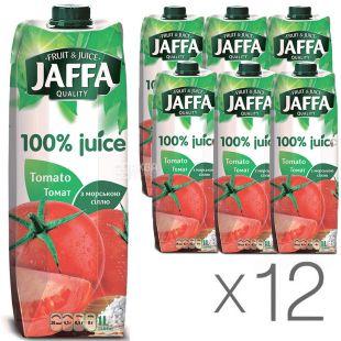 Jaffa, Tomato, 1 л, Джаффа, Сік Томатний з морською сіллю, Упаковка 12 шт.