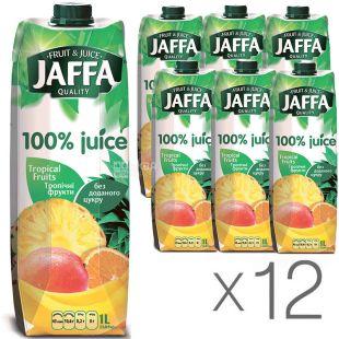 Jaffa, Tropical Fruits, Тропические фрукты, Упаковка 12 шт. по 1 л, Джаффа, Нектар 100% натуральный