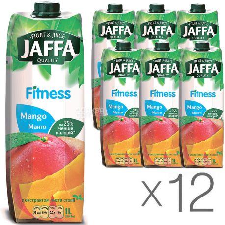 Jaffa, Fitness, Манго, Упаковка 12 шт. по 1 л, Джаффа, Нектар натуральний