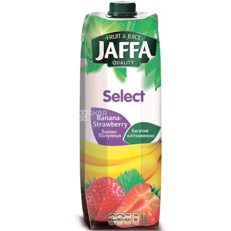 Jaffa, Select, Банан-клубника, 1 л, Джаффа, Нектар натуральный
