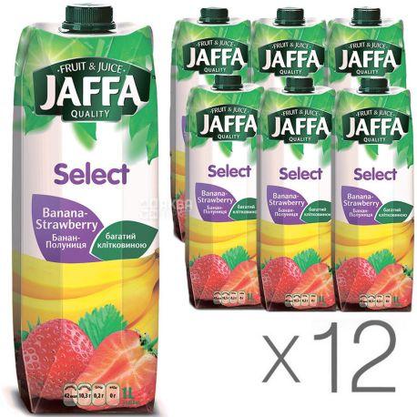 Jaffa, Select, Банан-клубника, Упаковка 12 шт. по 1 л, Джаффа, Нектар натуральный