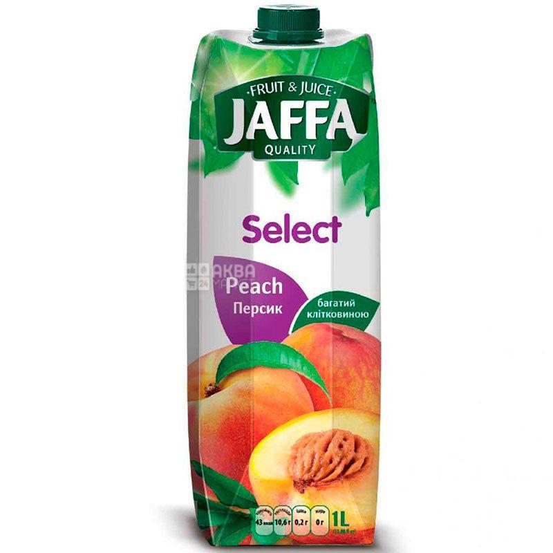 Jaffa, Select, Персиковый, 1 л, Джаффа, Нектар натуральный