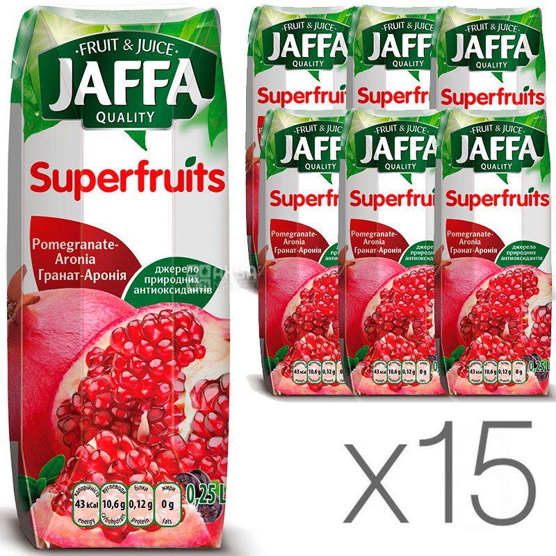 Jaffa, Superfruits, Гранат-Арония, Упаковка 15 шт. по 0,25 л, Джаффа, Нектар натуральный