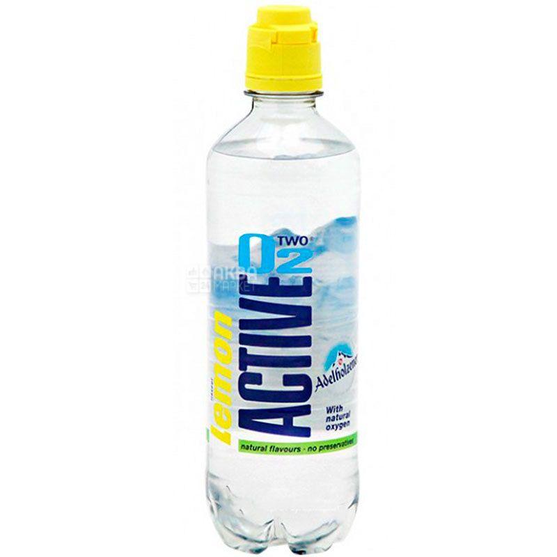 Active O2 Lemon, 0.5 L, Drink Enriched with Oxygen Active O2, Lemon, PET