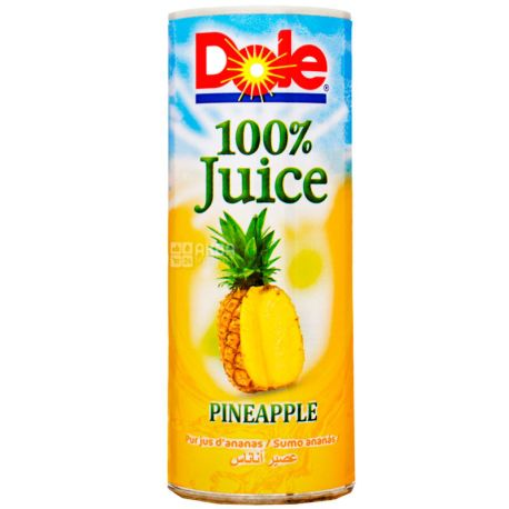 Dole, Pineapple, 250 мл, Доле, Ананасовый сок, прямого отжима, ж/б
