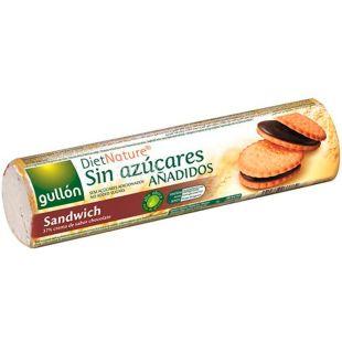 Gullon Diet Nature Choco Sandwich, 250 г, Гуллон Діет Натур, Печиво-сендвіч з шоколадом, без цукру