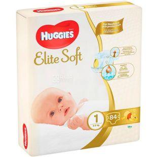 Huggies Elite Soft Mega 1, 84 шт., 3-5 кг, Подгузники, м/у