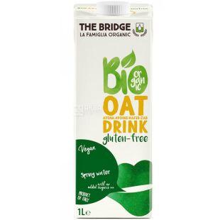 The Bridge, Organic Oat Drink, Sugar Free, 1 L