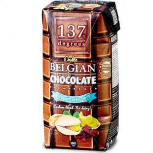 Degrees, 180 мл, Молоко Фісташкове з бельгійським шоколадом