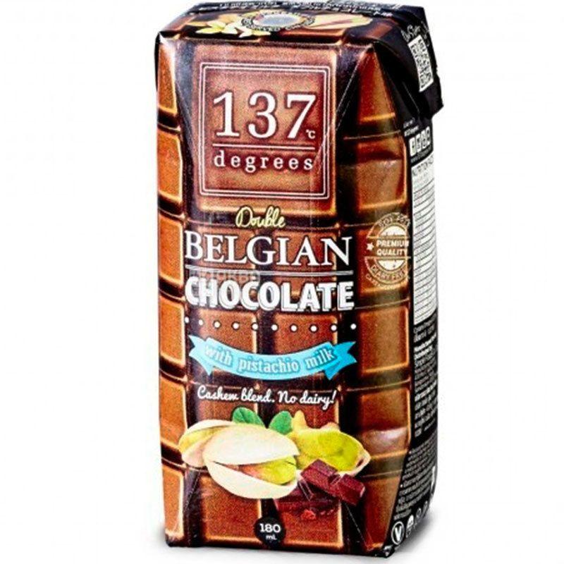 Degrees, 180 мл, Молоко Фисташковое с бельгийским шоколадом
