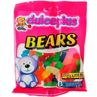 Dulceplus Teddy bears, 100 г, Дульчеплюс, Фруктові ведмедики, Жувальні цукерки, без глютену