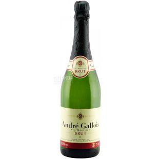 Andre Gallois, Вино игристое белое Брют, 0,75 л